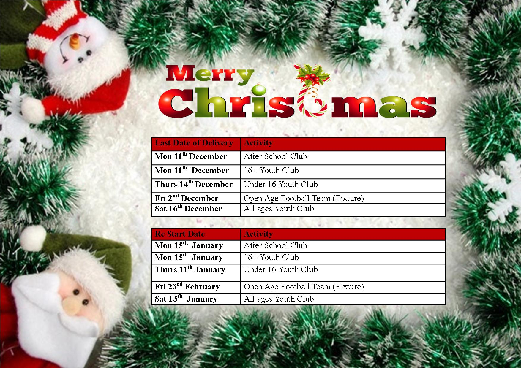 Christmas Closures 20